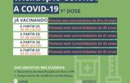 Pessoas de 49 a 45 anos estão sendo vacinadas contra a Covid-19 nesta semana