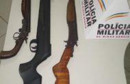 Três armas retiradas de circulação em Alto Jequitibá