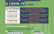 Pessoas de 39 a 37 anos serão vacinadas contra a Covid-19 esta semana em Manhuaçu