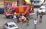 Acidente com moto no B. Coqueiro: Bombeiros e PM agem rápido